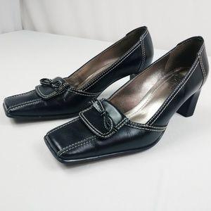 Franco Sarto Square Toe Heels with Bow